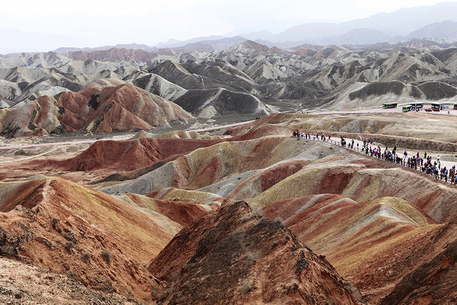 Fascinating Scenery of Rainbow Mountain in NW China