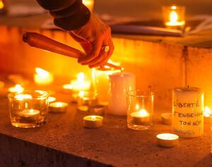 Rassemblement et Ceremonie d'hommage a Samuel Paty a la mairie de Versailles